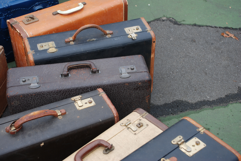 suitcases, vintage suitcases, travel, luggage