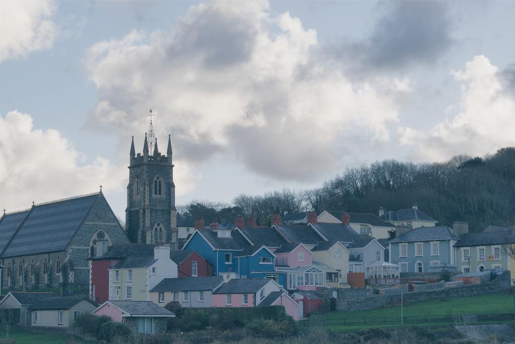 Aberaeron, ceredigion wales, welsh coast, market towns wales