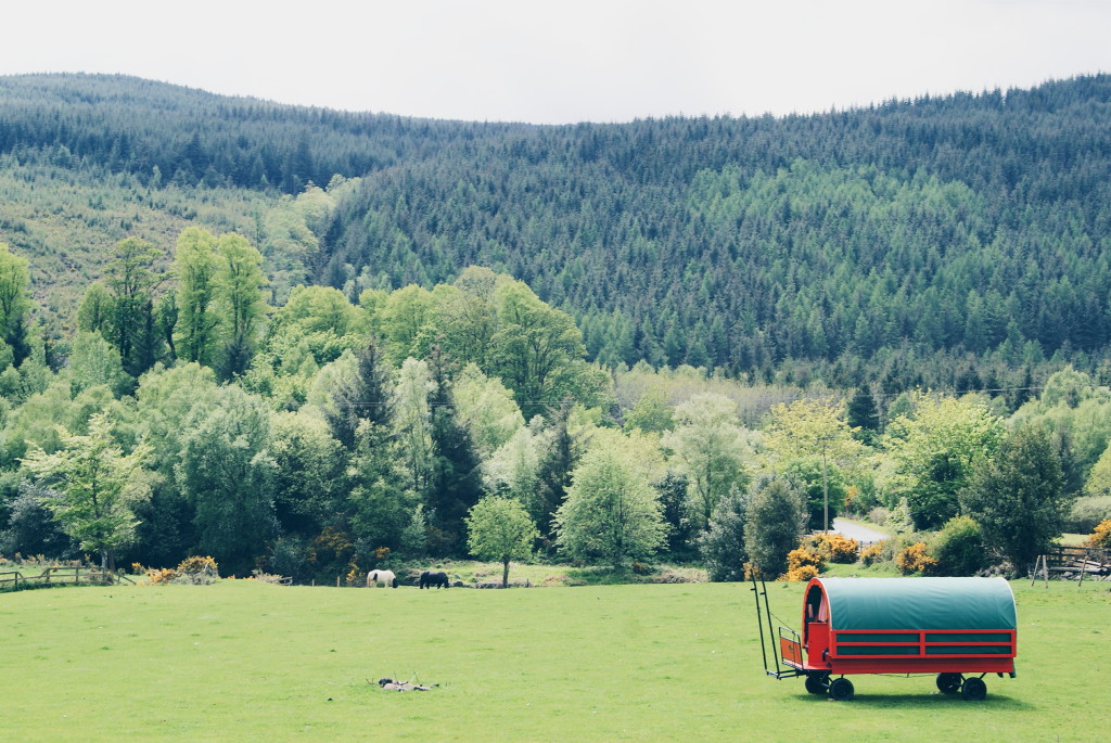 weekend in wicklow, gypsy caravans ireland, ireland glamping