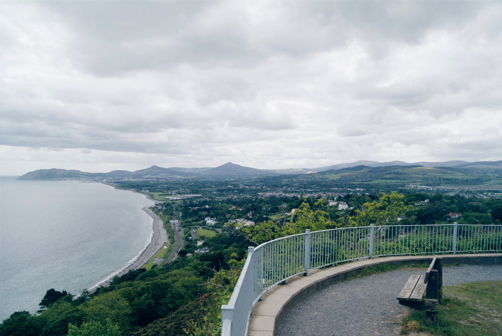 day trips from dublin, killiney hill park, views over dublin