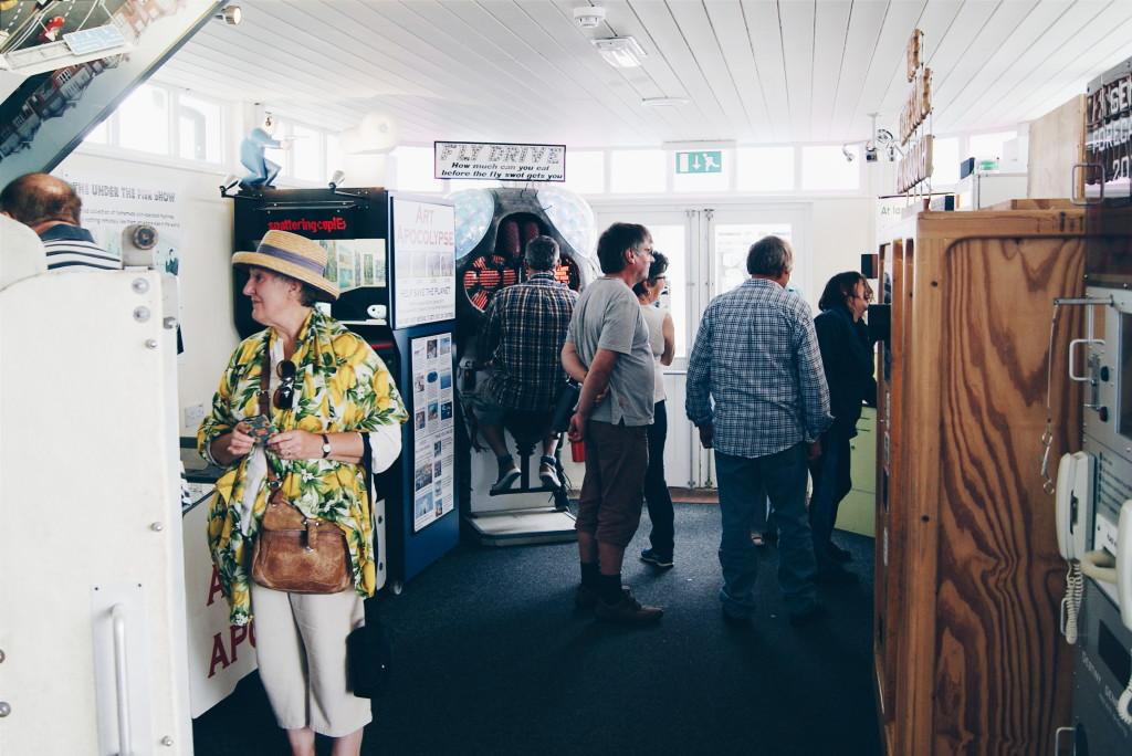 under the pier show, southwold pier, pier arcade