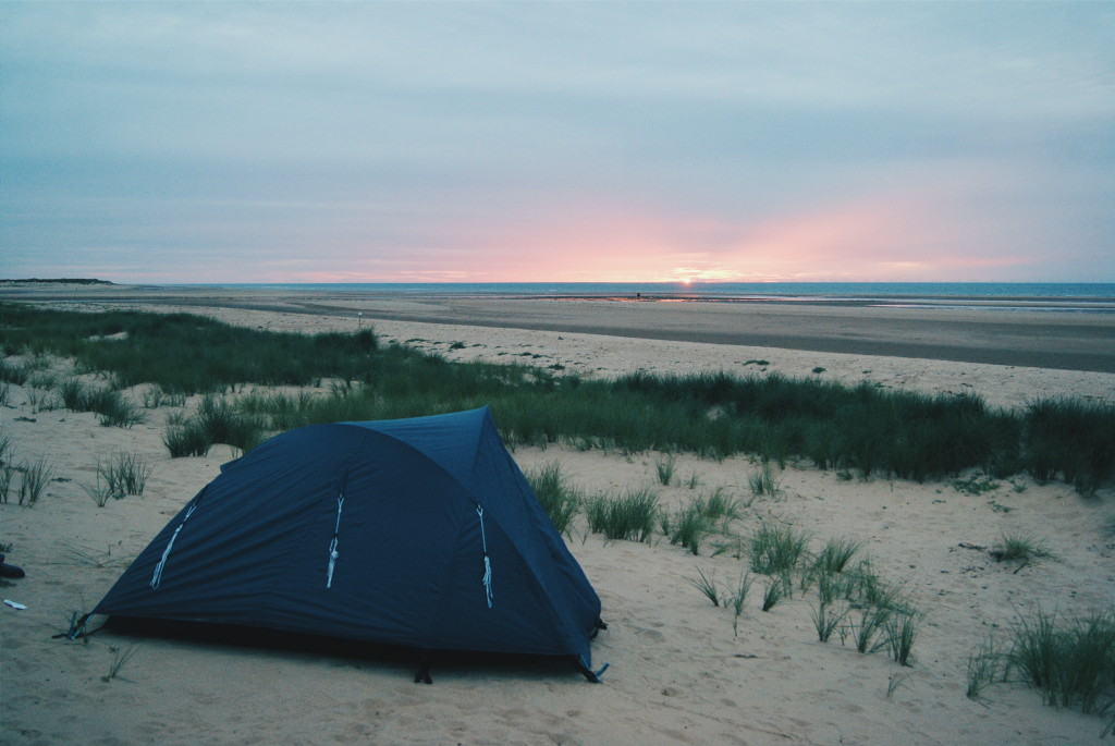 wild camping in norfolk, wild camping UK, norfolk beach