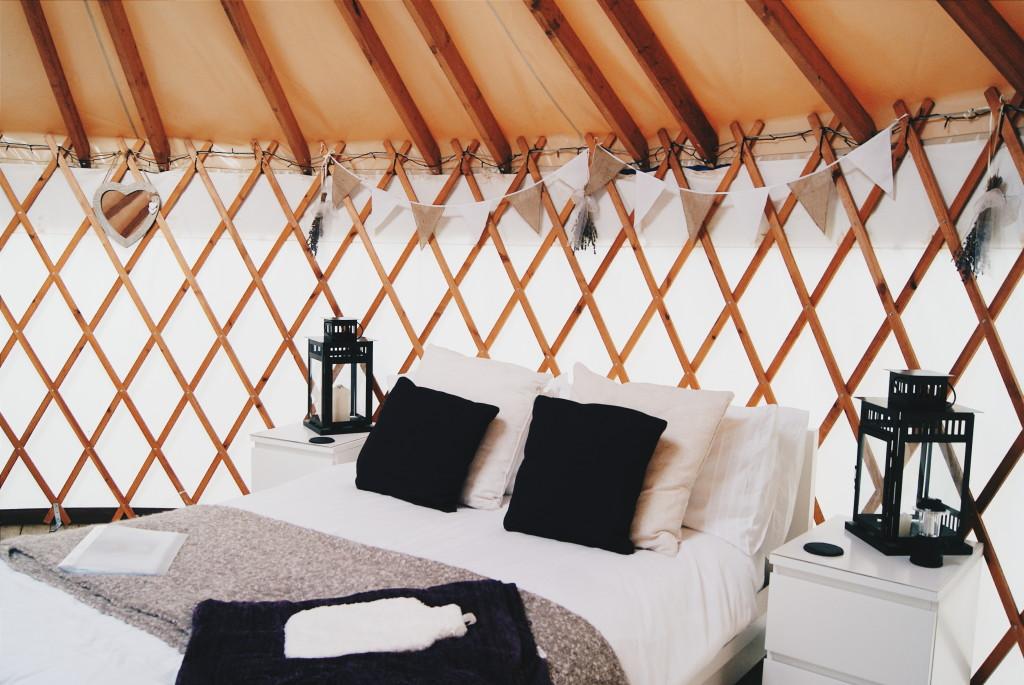 glamping in wales, yurts in wales, yurt camping UK