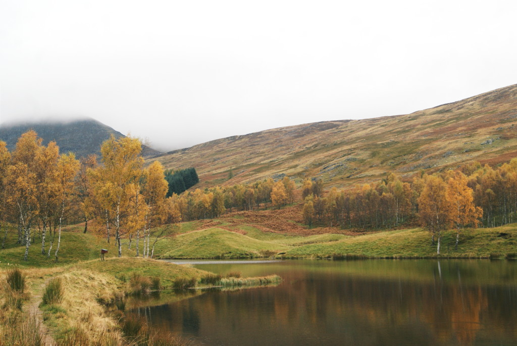 cairngorms national park in autumn, glen clova hills, glen clova lakes