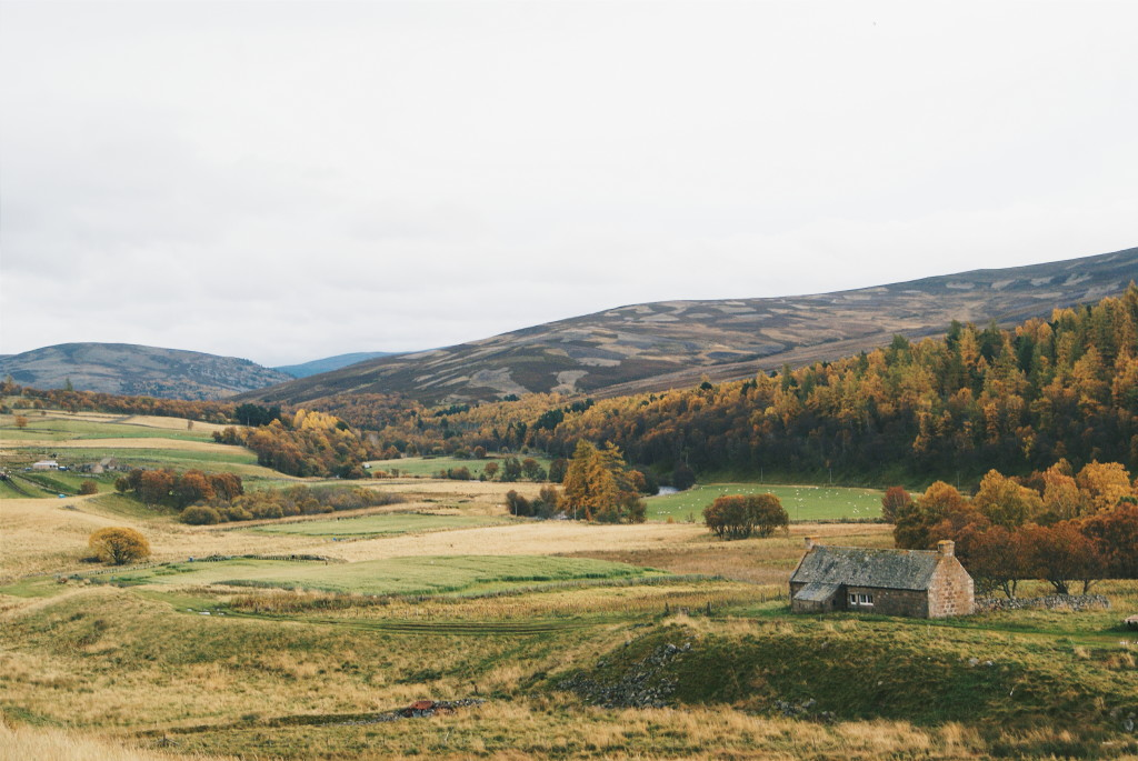 cairngorms national park in autumn, angus glens, autumn in scotland
