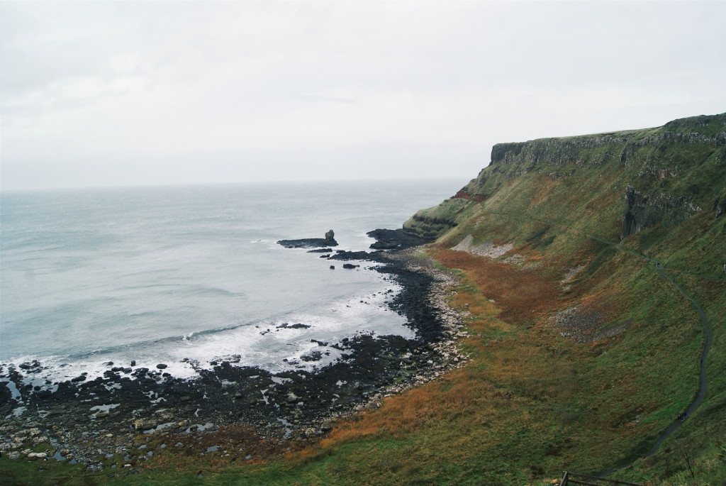 walking the causeway coast way, giant's causeway hiking, walking giant's causeway