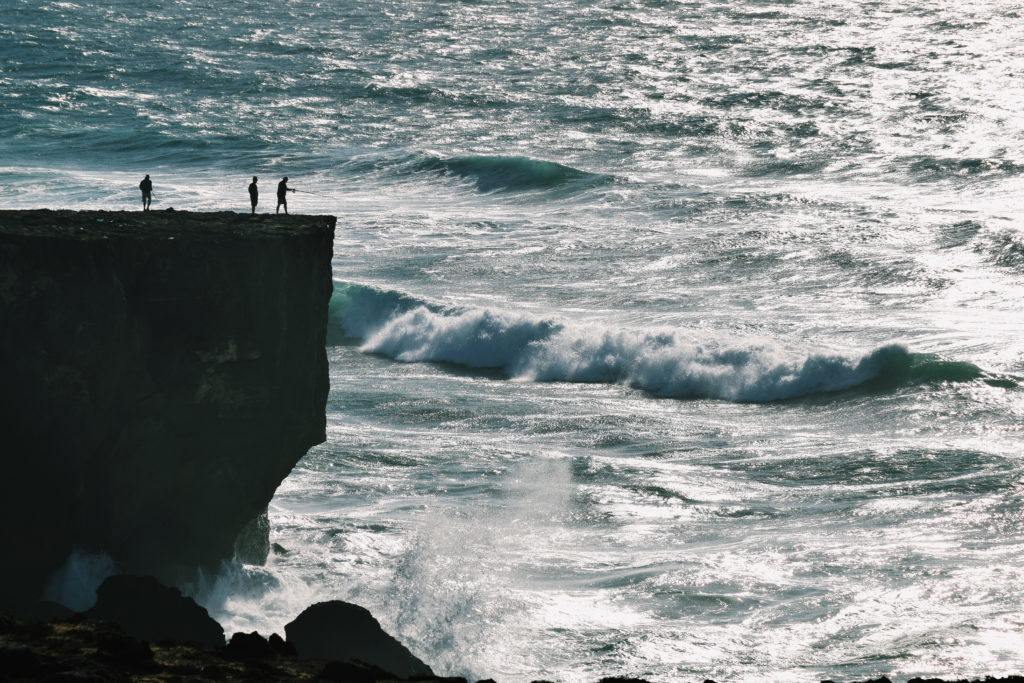 cliff fishing portugal, portugal photogrpahy