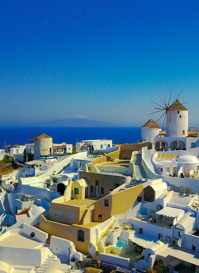 santorini greece, travel mindfully